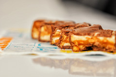 """Day 184/365 - """"Slice"""" (Little_squirrel) Tags: 365the2017edition 3652017 day184365 3jul17 slice slices sweet dessert sweets afterdinner yummy chocolate nuts onthetable snickers tasty delicious macro"""