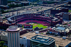 Busch Stadium - Home of the Cardinals - St Louis MO (mbell1975) Tags: stlouis missouri unitedstates us busch stadium home cardinals st louis mo saintlouis saint stl aerial view park arena facility field baseball mlb ballpark