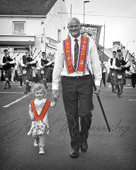 The Sash My Granda Wore ! (James Whorriskey (Delbert Jackson)) Tags: jameswhorriskey jameswhoriskey delbertjackson derry londonderry uk ulster ireland northernireland photo photograph photographer picture aroundus impressionsexpressions catchycolors jameswhorriskeyphotography colour art print busy outdoor street claudy orange orangefest march marching loyalist unionist protestant granda grandaughter grandfather orangeorder orangeman demonstration