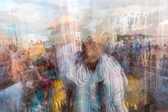 Pilgrims of Rameshwaram for the holy dip (ayashok photography) Tags: ayp0588 india life sunlight light play field desh culture village urban rameshwaram island water h2o pilgrim agnitheertham cwc chennaiweekendclickers multipleexposure sandwich digital