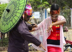 Shan Dancer (@Mark_Eveleigh) Tags: asia asian burma burmese east indochina myanmar south kalaw heho shan state ceremony buddhist festival procession carnival costume traditional