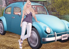 #212 - Vacation? (Violet Batriani | Blogger | Model) Tags: secondlife sl fashion blog bento catya maitreya vacation moving car luggage blond forest