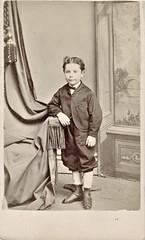 Young Boy - cdv (snap-happy1) Tags: photography photographs cartes de visite photographers smith edy brantford ontario canada victorian children fashion cdv back stamp rochon