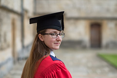 The Graduate (Mister Oy) Tags: graduation degree phd dphil oxford university merton college student dr doctor doctorate daughter proud pride mortarboard success fujixpro2 fuji56mmf12 fujinon56mmf12 english literature exams thesis red robes hat