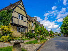 Cotswold country village Explored) (Geoff Eccles) Tags: cotswolds minsterlovell oxfordshire cotswoldstone countrypub englishvillage pretty stonetoadstool tourism tourist village yellowbrick
