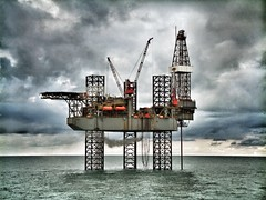 Ensco Jack Up drilling in the southern UK sector of the North sea (davidstyles1) Tags: drill drilling oil gas offshore sea northsea petroleum