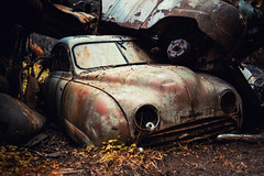 Old Love Rust (jan.lofgren61) Tags: car rust decay abandoned junk no person