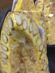 Cut Jack Fruit (cobalt123) Tags: asian leelee closeup food fruit gigantic green iphone6plus jackfruit unusual yellow