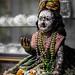 Portrait of a hindu god's sculpture