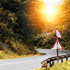 E574 (Calin Sirbu) Tags: e574 romania road sun flare sign curb corner nature