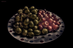 Choose Still Life (Billy McDonald) Tags: fractalius glasgow stilllife fruit grapes cherries