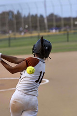 Swing...and a miss (shottwokill) Tags: sports girls teens softball nikkor 200500 d800 nikon ball miss strike girlssoftball plateview