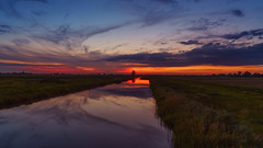 Sunset reflection (victoraperez) Tags: sunset reflection skyandclouds twilight beautyinnature beutiful cloudsky cloudsandsky day field grass landscape nature night nopeople orangecolor outdoors scenics silence sky tranquilscene tranquility tree water amersfoort netherlands mr scenery shadow infinitexposure 7dwf