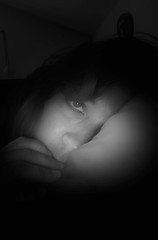 "Day 153 of Year 8- ""Day 153""? Maybe today is ""Night 153"" (Pahz) Tags: 365days selfportrait year8 blackandwhite digitalmanipulation"