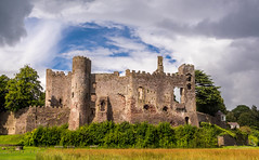 Laugharne Castle. (hemlockwood1) Tags: castle laugharne estuary wales norman history sky walls