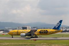 Itami Airport 2017.7.19 (11) JA743A / C-3PO ANA JET (B777-200) (double-h) Tags: omd em1markii omdem1markii lumixgxvariopz45175mmf4056asphpowerois rjoo itm osakaairport itamiairport 大阪空港 伊丹空港 airplane 飛行機 伊丹スカイパーク itamiskypark ja743a ana 全日空 b767 b767300 specialpainting 特別塗装 c3po starwars スターウォーズ スター・ウォーズ
