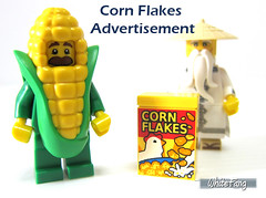 Corn Flakes advertisement (WhiteFang (Eurobricks)) Tags: lego collectable minifigures series city town space castle medieval ancient god myth minifig distribution ninja history cmfs sports hobby medical animal pet occupation costume pirates maiden batman licensed dance disco service food hospital child children knights battle farm hero paris sparta historic ninjago movie sensei japan japanese cartoon 20 blockbuster cinema