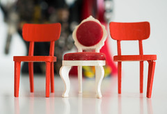 Three small dollhouse chairs (Maria Eklind) Tags: closeup tiny three macromondays dollhousechairs chairs