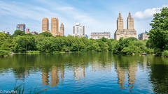 Skyline reflected in The Lake - Central Park New York (patuffel) Tags: water lake reflection reflected skyline great new york city central park pond skyscraper explore