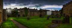Churchyard (Kev Walker ¦ From Manchester) Tags: architecture building canon1855mm canon700d clouds cumbria england hdr historic kirkbylonsdale picturesque postprocessing riverlune southlakeland town westmorland church landscape panorama panoramic