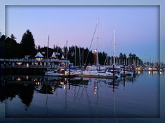 Harbour Twilight (FernShade) Tags: vancouver coalharbour twilight ocean sea reflection harbourlights vancouverrowingclub scenic scenery stanleyparkseawall