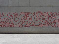 Haring Detail III (aestheticsofcrisis) Tags: street art urban interventions streetart urbanart guerillaart graffiti postgraffiti barcelona spain raval europe keith haring