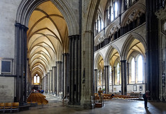 Salisbury Cathedral, side aisle from crossing