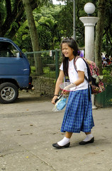 Happy Girl (Beegee49) Tags: street happy girl filipina dadminton racket laughing silay city philippines