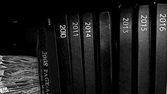 Perfect.... almost. (nige.cox61) Tags: flickrfriday abitoforder shelf books diary mono maps random
