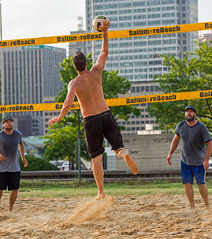 2017-07-17 BBV Men's Doubles (2) (cmfgu) Tags: craigfildespixelscom craigfildesfineartamericacom baltimore beach volleyball bbv md maryland innerharbor rashfield sand sports court net ball outdoor league athlete athletics sweat tan game match people play player doubles twos 2s men