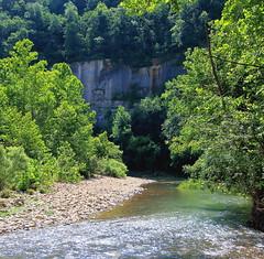 Steel Creek Bluff along Buffalo River - Downstream from Steel Creek Campground, Northwest Arkansas (danjdavis) Tags: steelcreekbluff bluff buffaloriver buffalonatinalriver river forest arkansas