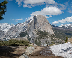 Half Dome from Glacier Point - Yosemite National Park (Aleem Yousaf) Tags: trees panoramatrail mountains glacier point halfdome hiking plants photography westcoast valley sky clouds snowcapped yosemite nature landscape united states west coast america merced river half dome national park outdoor usa california glacierpoint nikon d800 travel snow