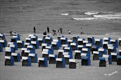 Playa Warnemunde (JC Juan Carlos) Tags: bw butron bn blue azul playa beach warnemunde germany alemania color selectivo selective