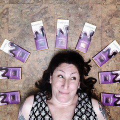 Because Science / 189.365 (sadandbeautiful (Sarah)) Tags: me woman selfportait self female 365daysproject 365daysx8 day189 darkchocolatebars