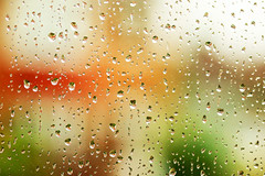 Rain and colour (Wilamoyo) Tags: rain window droplets water running drizzle red orange green brown white abstract dof macro lens canon