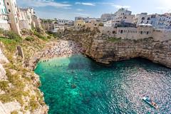 Polignano a Mare, Puglia (johannesotte84) Tags: otte 6d canon polignano mare puglia apulien apulia italy italien süd southern beach rocks sea adria urlaub holiday bucht cala