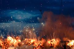 Bomb explosions (-DonRomano-) Tags: bomb explosions fire night aerobatic show romania bias bias2017 sky hot photojournalism air bandits