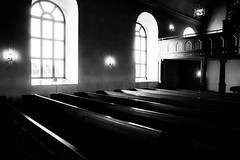 The Church (andersåkerblom) Tags: hälsingland sweden windows window shadow light canon church blackandwhite monochrome