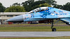 SU-27UB twin seat trainer taxying (DrAnthony88) Tags: modernmilitary nikkor200400f4gvrii nikond810 riat2017 royalinternationalairtattoo2017 sukhoisu27ubtwinseattrainerflankerc ukraineaf831guardstacticalaviationbrigade ukrainianairforce cockpit taxying taxiiing