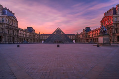 The Louvre (amd274) Tags: lightroom architecture beautiful buildings sunrise paris vivid dramatic cityscape fuji city louvre rokinon12mm longexposure fujifilm clouds