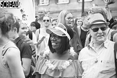 Norwich Pride 2017 (jasonmacdonald1981) Tags: pride lgbt street people colourful colours rainbow red yellow green blue pink prange dogs hair smile happy laughter children child bw summer stall trader man woman girl acceptance boy flag dreadlocks dancing band parade black faces face hats proud