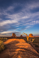 Monument Valley afternoon portrait (NettyA) Tags: 2017 america arizona monumentvalley navajotribalpark northamerica sonya7r us usa rock sunset travel sky clouds themittens merrickbutte shadows afternoon landscape navajosandstone desert arid