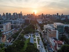 Aerial of Singapore's Skyline