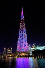 BURJ KHALIFA (dale hartrick) Tags: burjkhalifa lightshow worldtallestskyscraper lightdisplay skyscraper worldstallestbuilding dubai longexposure
