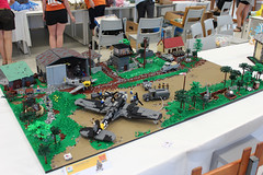 German airfield - 1942 (kr1minal) Tags: wwii worldwar 2 german airbase itlug italia lug italy lecco 2017 nazi luftwaffle heinkel111 bf109 huge diorama moc brickmania