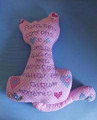 2 (AneloreSMaschke) Tags: bordado tecido xadrez gato handmade artesanato