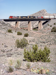 ATSF 633 East at Abo Canyon, NM (thechief500) Tags: atsf abocanyon bnsf clovissubdivision railroads nm newmexico santaferailway atchisontopekaandsantafe