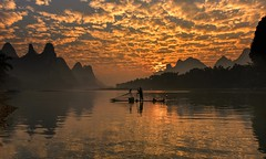 Worlds Away (Anna Kwa) Tags: liriver cormorantfisherman yangshuo guilin guangxi china annakwa nkon d750 afszoomnikko1424mmf28ged my worldsaway always light sunrise dawn clouds hope seeing heart soul throughmylens fate life destiny lost callingforyourlove travel world eels