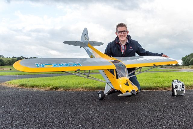 Stevie with my Hangar 9 Carbon Cub 15.