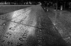 In memoriam (C@mera M@n) Tags: 911memorial blackandwhite city manhattan monochrome ny nyc newyork newyorkcity newyorkcityphotography places rain urban outdoors urbanpark